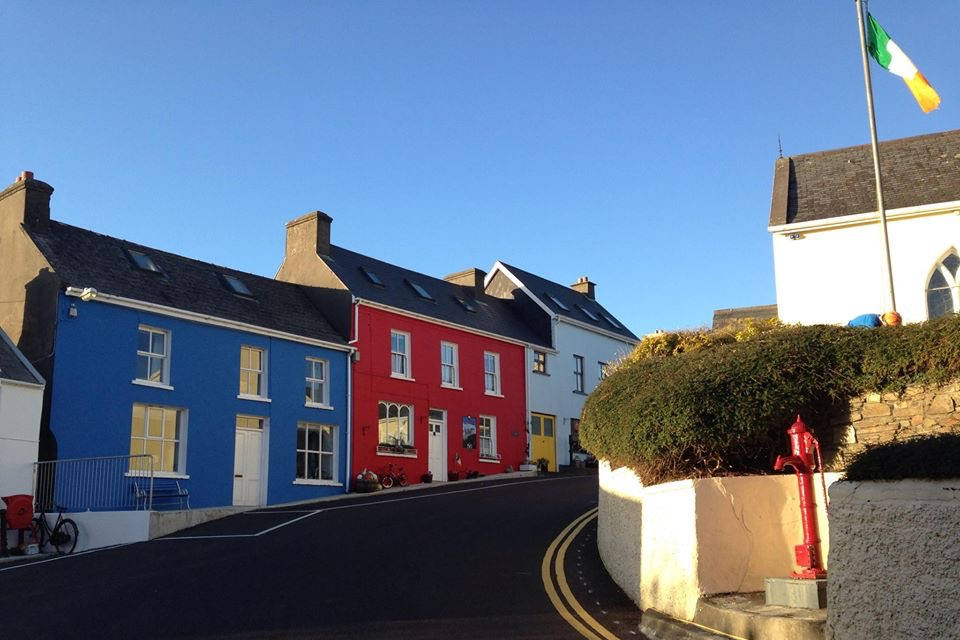 Eyeries Colourful Houses West Cork